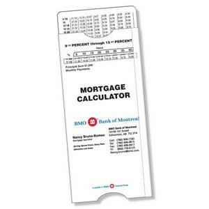 "Stock Plastic Mortgage Payment Slide Calculator (2.7""x5.63""), Spot Colours."